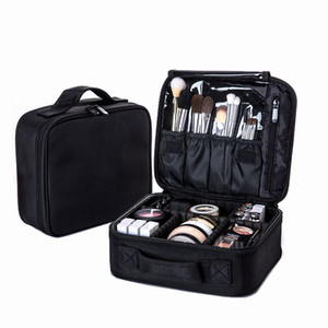 Women Professional Cosmetic Bag Large Waterproof Travel  Bag Trunk Zipper Make Up Organizer Storage Pouch Toiletry Kit Box