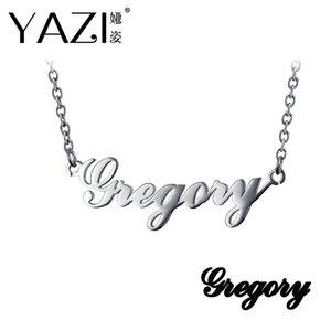 Yazi benutzerdefinierte Name Halskette Kupfer Gold Farbe überzogen personalisierte benutzerdefinierte Anhänger Memory Geschenk Typenschild Schriftgravur Schmuck