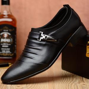 mocasines de hombre zapatos de vestir de negocios de oficina de cuero zapatos de punta formal de los hombres de cuero zapatos sin cordones para hombre de gran tamaño Heren Schoenen buty męskie