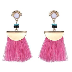4 цвета Оптовая новая тенденция моды вентиляторы веревка кисточкой заявление серьги для женщин ювелирные изделия бахромой серьги