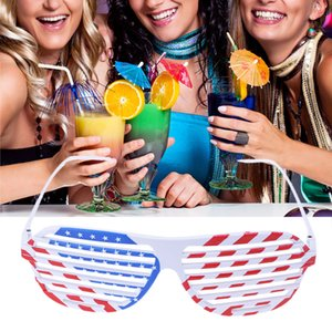 Neuheit amerikanische UK Flag Muster Sonnenbrillen Ball Fans Dekoration PVC-Brillen Fenster-Shades Sterne Print Brillen Masquerades Party Glasses