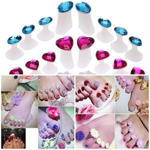 Flor Diamante Silicone Toe Separators 8 pçs / set Pés Toe Espaçadores para Uso Doméstico e Salão de Beleza DIY Ferramentas Da Arte Do Prego