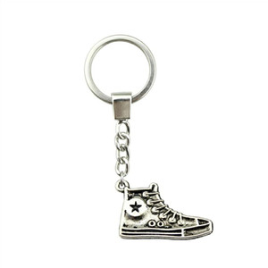 6 Pieces Key Chain Women Key Rings For Car Keychains With Charms Sport Shoe 30mm YSK-B10052
