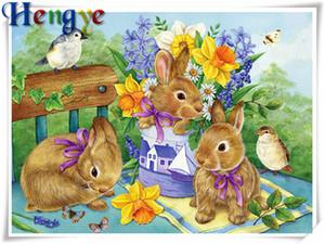 5D Алмаз вышивка животных кролик цветок diy Алмаз живопись вышивки крестом комплект смолы полный roundsquare алмазная мозаика home decor y2391