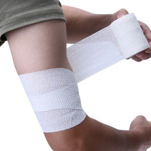 Elastik Bandaj Atletik Bant Spor Streç Elastik Kendinden yapışkanlı Rulo Bandaj Askı Bilek Desteği Pamuk Bant