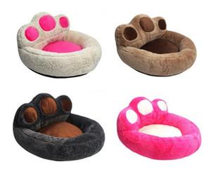 Cute Bear Artiglio Forma Rimovibile Pet Dog Letti Riscaldamento Dog Cat Bed Casa Nido per Cucciolo Gatto Animali Domestici Divano Mat Cuscino S / M / L
