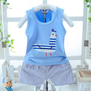 Ropa para niños bebés 2018 Summer Pigeon Printed Kids Shorts trajes de algodón informal para niños Ropa Set 3 clour