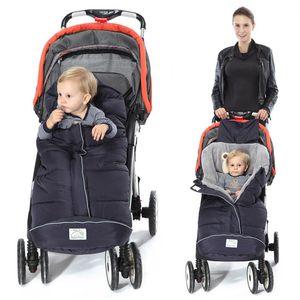 الشتاء كيس النوم طفل أكياس النوم ل عربة مع footmuff الرضع الكرتون الدب حقيبة أطفال القطن الطفل sleepsacks