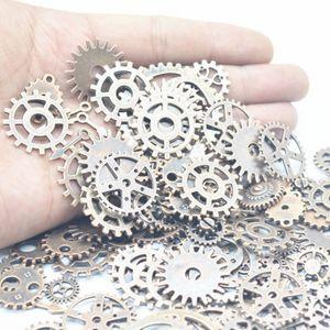 100 g Mix alliage Steampunk Gears Bijoux DIY Accessoires Gears Cog Charms Pendentif à Fit Bracelet Accessoires de bricolage cadeau de Noël