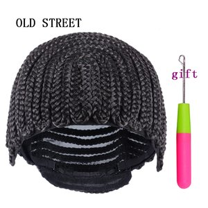 5 шт. косички парик шапки с клипами легко парик решений, эластичный купол парик Cap Оптовая Glueless Hairnet синтетический твист плетение волос
