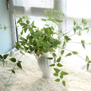 가짜 실크 아이언 라인 Chlorophytum 인공 꽃 녹색 bracketplant 홈 웨딩 장식 걸려 갈 랜드 장식에 대 한 나뭇잎