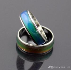 Mood ring changes color to your temperature reveal your inner emotion cheap fashion jewelry 10pcs mix size