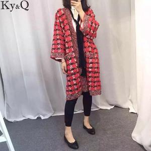 Luxury Women Cardigan Sweater 2017 Autumn New Fashion Knitted V-Neck Striped Warn Cardigans Women Long Cardigans Pull Femme Coat