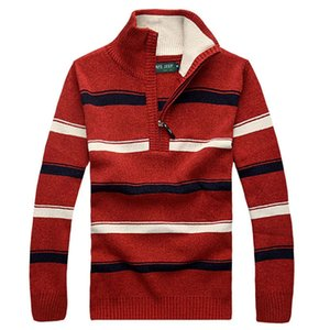 Wholesale-Free shipping 2017 new striped sweaters spring and autumn men's pullovers casual men's sweater 55