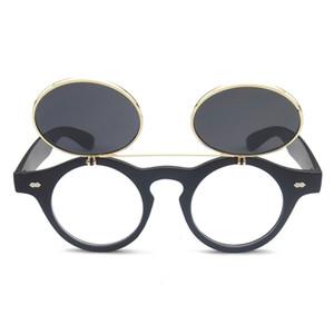 NOUVELLE mode lunettes de soleil rondes Lunettes de soleil de designer femme steam punk Métal de sol femmes REVÊTEMENTS LUNETTES DE SOLEIL Hommes Rétro CERCLE LUNETTES SOLAIRES