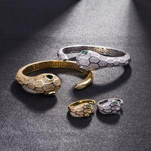 Marke Hochzeit Schmucksachen für Frauen 2019 neuer Schlange-Armband-Armbänder 18K Gold überzog CZ-Armband-Armband
