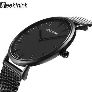 Top Brand Luxury Orologio al quarzo uomo Casual Black Japan orologio al quarzo in acciaio inossidabile Wooden Face ultra sottile orologio maschile Relogio New S914