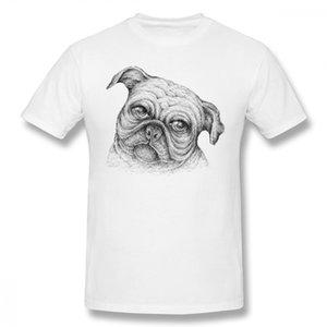 Özel Bir Pug Köpek Homme Tee Gömlek Yaz Erkek Yeni Arrivalfor Için Erkek Kaliteli Pamuk Üst Tees