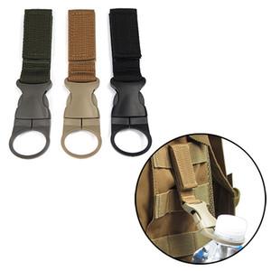 Nylon Molle Webbing Bottiglia d'acqua Moschettone Belt Backpack Hanger Hook Outdoor Buckle Hook Holder Clip accessori per la caccia