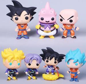 Funko pop Dragon Ball Z Action Figure Goku Vegeta Krillin Buu cellulaire Doll Piccolo Torankusu action Super Saiyan Modèle Toy cadeau