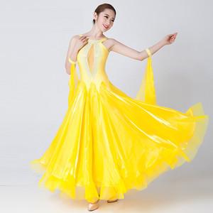 Personalize 7 cores Vestido de salão de baile padrão para dança de baile Dança Viennese Waltz Dress Dance Compety