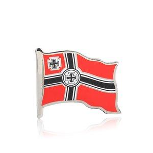 WW2 WW1 Bandiera dell'Impero Tedesco Pin Spille con croce smaltata
