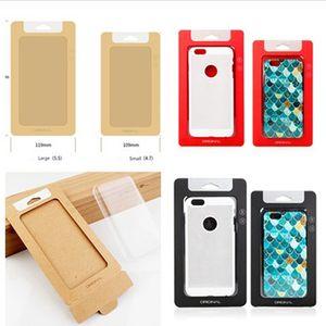 Universal Plain Kraft Brown Paper باقة التجزئة صناديق تغليف للهاتف Case iphone 7 8 6 6S plus SAMSUNG Galaxy S7 edge مع insert