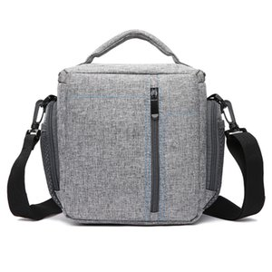 Moda Waterproof Material Tecido Camera Shoulder Bag DSLR Camera Bag Sling Com capa de chuva para Canon Nikon Sony Camera.