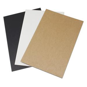 10x15cm 50Pcs Black Brown Kraft Paper Blank Card Greeting Word Cardboard Invitation Card Party Wedding Retro Message Postcards