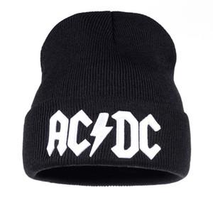 Мужчины Женщины зима теплая шапочка Hat Rock ACDC AC/DC рок-группа теплая зима мягкие трикотажные шапочки Hat Cap для взрослых мужчин женщин