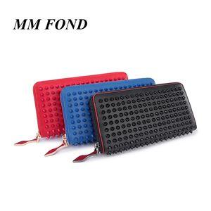 MM FOND sopra stud anti-rob chic unisex portafoglio di grandi dimensioni super qualità 3 colori classico popolare money borsa hot money clip A198