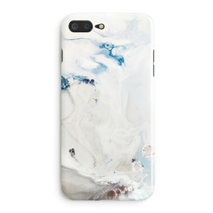Ins Hot Sell Literary Mobile Phone Back Case For Apple iPhone 6 7plus 8 6s X Splice Marble Lava Smooth Soft Protective Cover