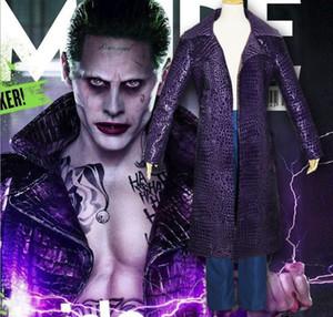 The Joker Suicide Squad Jared Leto Cappotto viola con pantaloni