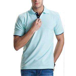 브랜드 의류 폴로 뜨거운 여름 옴므 솔리드 도매 폴로 셔츠 캐주얼 남성 티 셔츠 탑 코튼 슬림핏