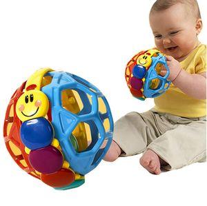 HOT 10cm Baby Toy Catch Einstein Ball Bendy Baby Walker Rattles Develop Intelligence Ball 0-12 Months Plastic Bell Rattle Doll