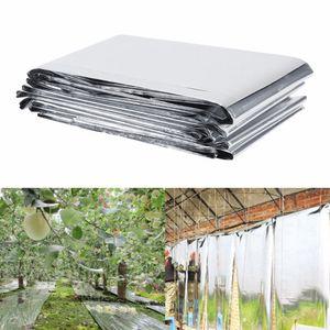 2pc 210 x 120cm Gümüş Bitki Yansıtıcı Film Bahçe Sera Işık Sun Yansıtıcı Bahçe Aksesuarları büyütün