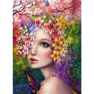 DIY Unfinished Diamond Conjuntos de Pintura Rhinestone Pegado Pintura Decorativa Kraft Kits Dream Flower Fairy Beauty