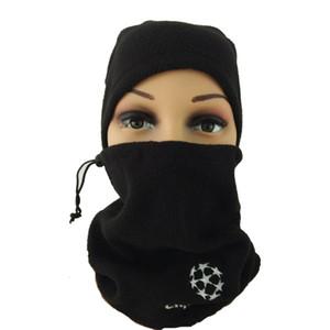5 pcs unisexe double usage écharpe de football foulard foulard de football en plein air sport coupe-vent polaire multifonctionnel chapeau chaud QT039