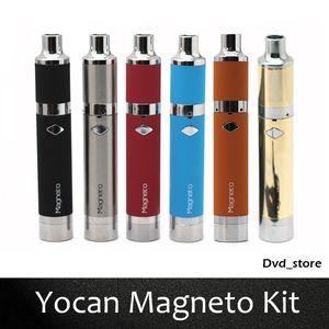 Autêntico Yocan Magneto Kit 1100 mAh Cera Vaporizador Vape Pen Kits Com Conexão Magnética Dab Ferramenta Bobina Cap 6 Cores Atualizado Evoluir Mais