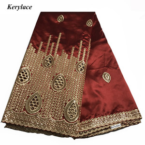 Sequins Kumaş KRL-9143 Şarap Kırmızısı Dikiş El Sanatları Nakış Nijeryalı Yüksek Kaliteli Ham İpek Afrika George Dantel Kumaş Kadınlar Elbise Mesh Fransız