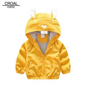CROAL CHERIE 80-130cm Nettes Kaninchen Kinder Jungen Jacke Mädchen Oberbekleidung Mäntel Kinder Koreanische Kinderkleidung 2018