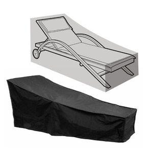 82L x 30W x 31H-16H in Black Lounge Chair Cover Waterproof Dust-proof Chair Covers Protection for Garden Yard Outdoor Recliner Cover