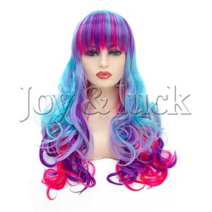 Vendo parrucca in fibra chimica colorata con giochi di ruolo appositamente progettata per la ragazza elfo senza spese di spedizione.