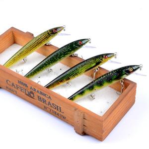 10 teile / los 13,7g / 12 cm Harte Angelköder Schwimmende Wobbler Beste Kurbel Harte Köder für Meer Karpfenfischen Hot