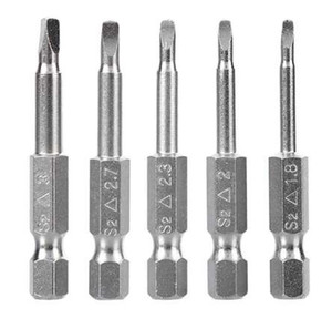 NEW 5 pcs S2 Alloy Steel Material Triangular Screw Bits Magnetic Screwdriver Bits Anti Slip Triangle Screw Head 1.8 2 2.3 2.7 3 mm