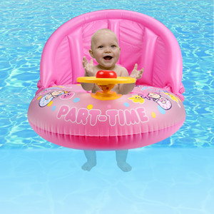 Gonfiabile Baby Swimming Seat Float Boat con parasole rimovibile Summer Water Have Fun Tool Rosa e blu