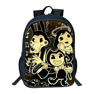 Hot Cartoon Bendy e The Ink Machine Backpack per studenti Bendy e Boris Kids BackpacTeens Boys Girls Children School School