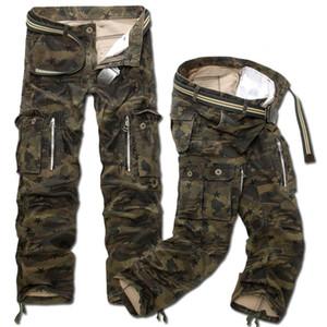 Nuovi uomini di moda casual pantaloni cargo militari Camo Combat pantaloni larghi dritto larghi camouflage Plus Size