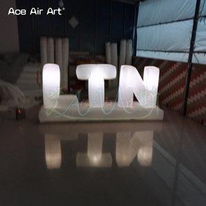 휴대용 이벤트 장식 led 조명 알파벳 및 공기 송풍기 에이스 에어 아트 만든 알파벳 글자 모델