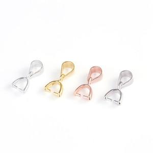 Conclusions en argent sterling 925 Bail connecteur balle balle fermoir pour perles pendentif bricolage fabrication de bijoux